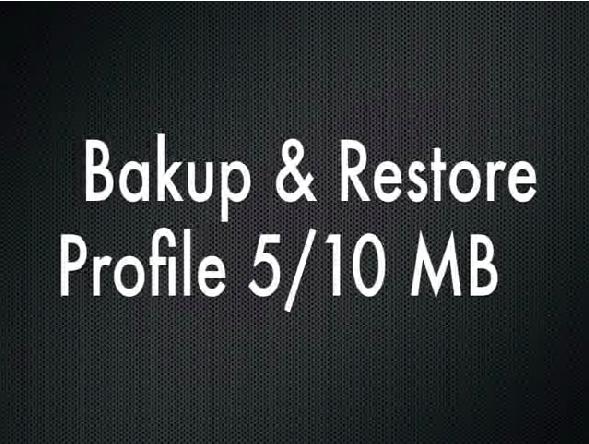 Profile Backup Utility - MEMORY SYSTEM
